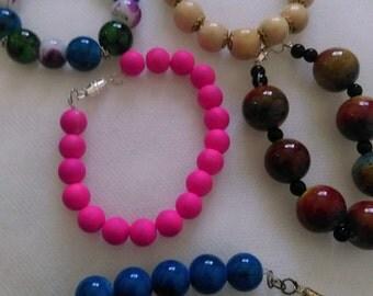 Glazed colorful bracelets