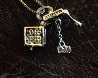 Secret message box necklace