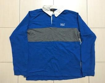 Vintage 90's Everlast USA Sport Classic Design Skate Sweat Shirt Sweater Varsity Jacket Size M #A517