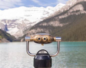 Canada, Lake Louise, Banff National Park, Binoculars, Nature, Print, Fine Art, Wall Art, Alberta, Canadian Rockies, Nature Photography