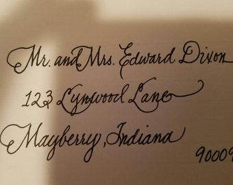 Calligraphy - Wedding invitations