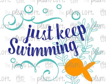 Just keep swimming - bubbles - SVG Cutting File for Cutting Machines - SVG, Eps, Png, & Jpg