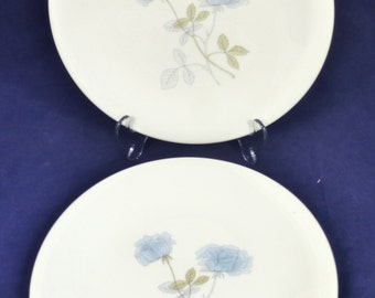 Beautiful Wedgwood Bone China Ice Rose Dinner Plate – set of 2