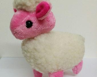 Dark Pink Pastel Sheep Plush