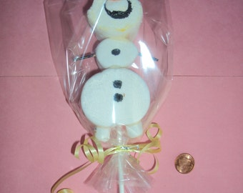 12 Marshmallows figures Frozen, Michey or Minie Mouse.