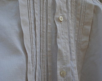 French linen and hemp smock long farmer ,late 1800s