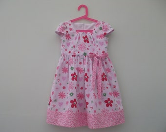 Childs pink floral dress