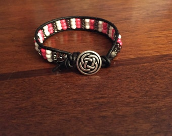 Pink Black n White Single Wrap