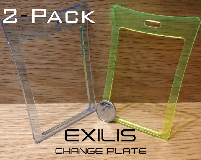 2 - Pack Change Plate for the EXILIS Wallet, Coin Holder, Business Card Holder, Cash Case, Custom Colors