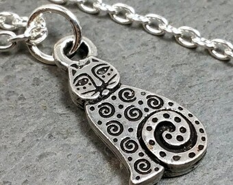DGG8 - Cat Spiral Necklace