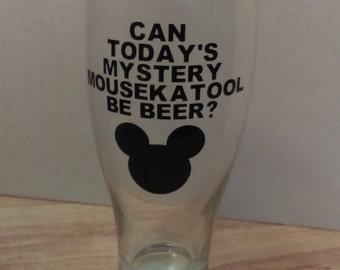 Mickey mouse pilsner beer glass