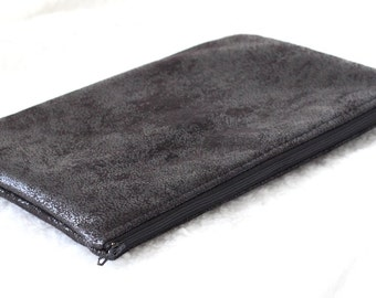 Large pocket for Tablet, cover, faux leather of black furnishings and Liberty of London Ed