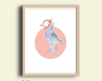 "Bird art, parrot print, bird print, Printable art, animal print, instant download, wall art, Digital print, Two digital files 8""X10"""