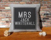 Jack Whitehall Cushion Pillow  Silver Grey  100 cotton  16x16 inches