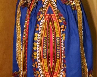 African print maxi skirt