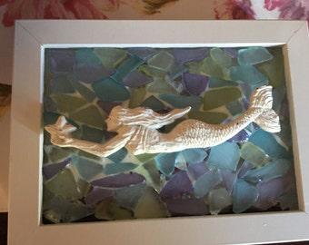 Mermaid on sea glass
