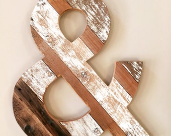 Reclaimed Wood Ampersand