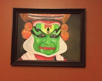 Oil painting - KATHAKALI