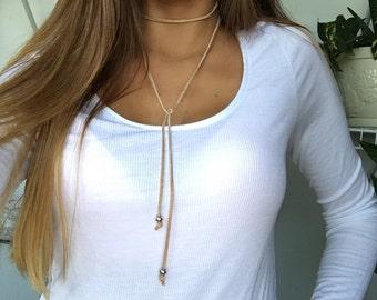 Tan Trendsetter Choker Necklace