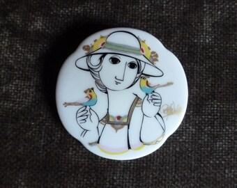Vintage ROSENTHAL porcelain brooch