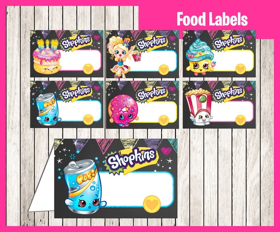 It's just a picture of Tactueux Free Printable Shopkins Food Labels