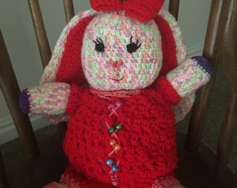 Hand-knit Cotton Bunny