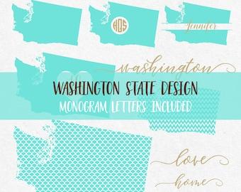 Washington State Svg Cricut svg Silhouette svg designs state outline png dxf svg bundle tee svg clipart cutting files monogram font svg font