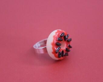 Raspberry and Chocolate Doughnut Ring