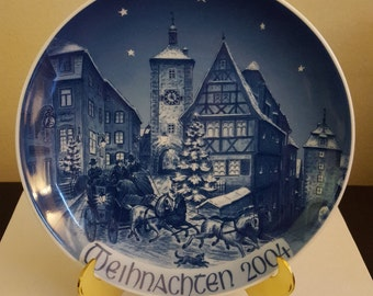 """Bareuther """"Christmas Time in Rothenburg O.T."""" Limited Edition Collector Plate"""