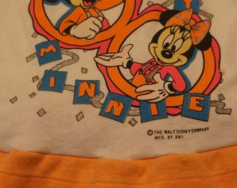 1980's 3T Vintage Disney World Neon dressy shirt