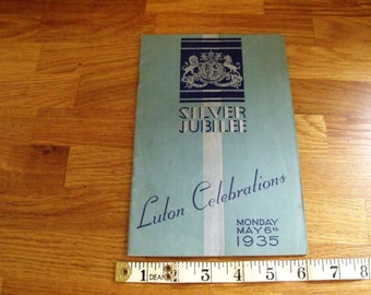 Luton Silver Jubilee 1935 Booklet and Beds & Herts Pictorial Newpaper May 1935