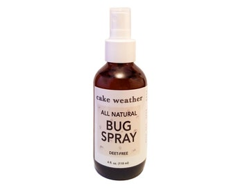 NATURAL Bug Spray - Natural, Plant-Based Ingredients, DEET-free Insect Repellent