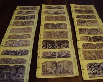 Antique Stereoscope Cards, Diablerie, Operas, Etc. Series - Lot of 27