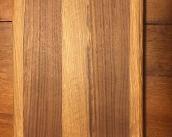 Walnut and Oak 10x13 Cutting Board