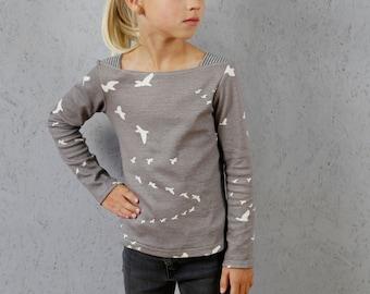 Marlene - Basic shirt with shoulder inserts