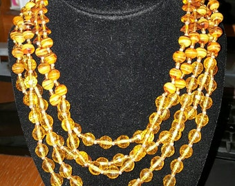 Fabulous 5 strand Miriam Haskell Necklace