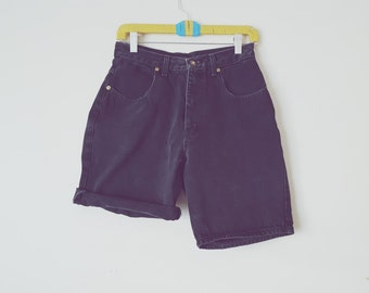 Vintage Black Denim High Waisted Shorts