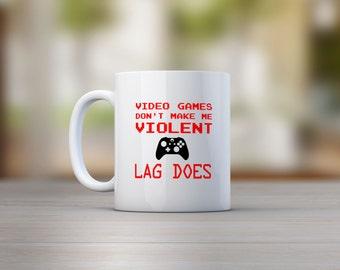 Video Games Don't Make Me Violent Mug