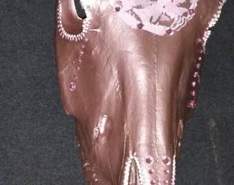 Hand Painted Horse Skull