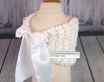 Crochet Flower Girl, First Communion, Bridal or Bridesmaids Shawl Crochet Easy Crochet Patterns Wedding Crochet Pattern Child To Adult Sizes