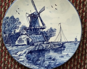 Hand painted vintage Dutch plate