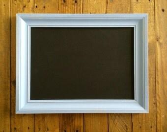 Blue Painted Upcycled Chalkboard Blackboard