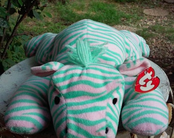 Vintage Ty Pillow Pal, Zulu the Zebra, 1996-Retired
