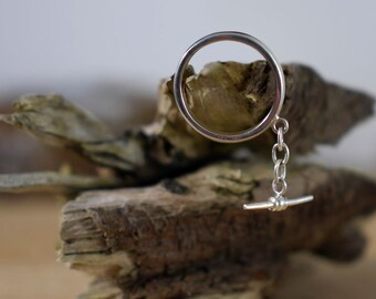 Handmade silver ring, ring with pendant, size W ring, large ring