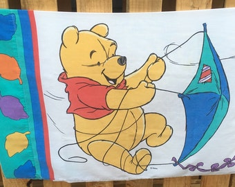 Winnie the Pooh Pooh Bear Tigger leaves flying kite blustery day nursery toddler