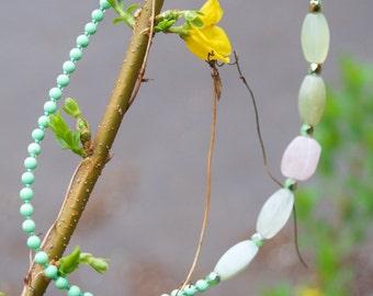 Handmade Asymmetrical Stones Necklace