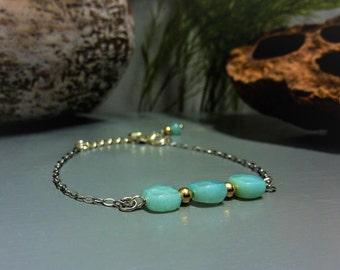 Amazonite - 925 silver bracelet
