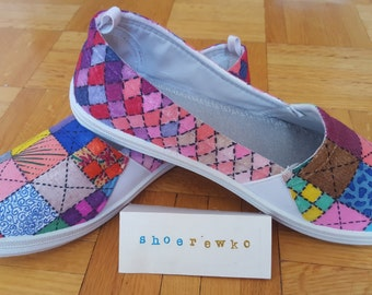 Quilt Theme Personalised Sneakers