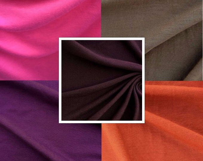 Jersey Knit Fabric By The Yard (Wholesale Price Available By The Bolt) Made in USA Premium Quality - 2539 - 1 Yard
