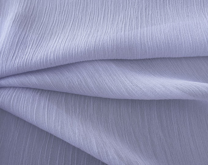 Sheer Crinkle Gauze Fabric By the Yard (Wholesale Price Available By the Bolt) - 10054 Lavender - 1 Yard